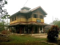 Colonial era post office in the hill station village of Hsipaw Myanmar
