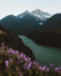 Colonial Peak at sunset North Cascades National Park WA