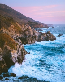 Color palette of a Central Coast sunset Big Sur California