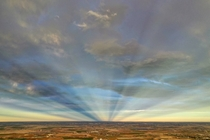 Colorado anticrepuscular rays this evening