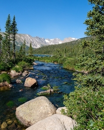 Colorado is a beautiful place in the summer Isabelle Glacier Trail