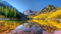 Colorados Maroon Bells in Fall Gunnison Colorado United States   By Dave Soldano