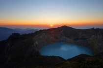 Colored Volcanic Lakes Gunung Kelimutu Flores Indonesia
