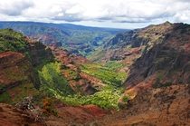 Colorful and beautiful Waimea Canyon on the island of Kauai Hawaii