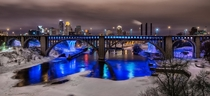 Colorful cold Minneapolis night