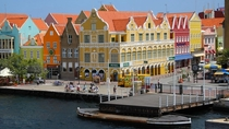 Colorful colonial Dutch architecture Willemstad Curaao