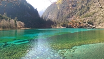 Colorful Lake Autumn in JiuZhai Valley China