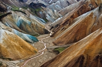 Colorful Landmannalaugar in the highland of Iceland  by Helga Urbn