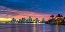 Colorful Miami skyline