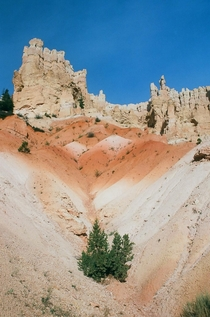 Colorful sediment in Bryce Canyon National Park UT