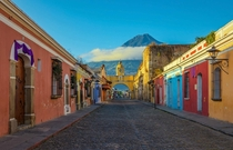 Colorful street of Antigua Guatemala
