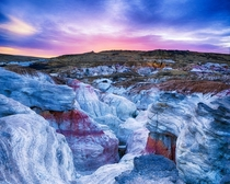 Colorful sunrise over the Paint Mine Interpretive Park Colorado Photo by Dave Soldano