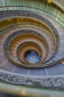Colorful Vatican Museum Stairs