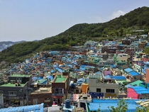 Colorful village in Busan South Korea