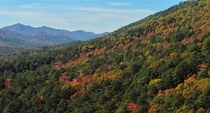 Colors blanketing the Ouachita Mountains in what was almost Ouachita National Park