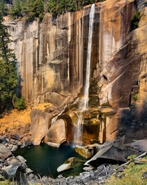 Colors changing at Vernal Falls Yosemite National Park CA USA  x