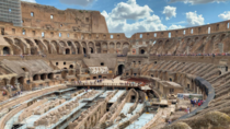 Colosseum in Rome is the largest ancient amphitheatre ever built and is still the largest standing amphitheater in the world today It was completed in AD by tens of thousands of Jewish slaves under the rule of the Emperor Vespasian
