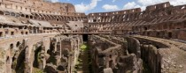 Colosseum panorama Rome Italy