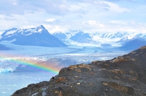 Columbia Glacier and a rainbow this past AugustColumbia Bay Alaska