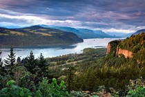 Columbia River Gorge - Where the Columbia River splits the Cascade Range between Washington and Oregon