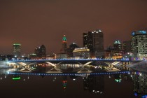 Columbus Ohio lit up Holiday-Style