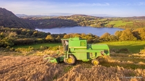 Combining at Lough Hyne West Cork Ireland x OC Taken while making a video for Marsh Agri last weekend