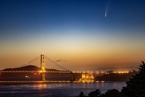 Comet NEOWISE amp the Golden Gate Bridge in San Francisco