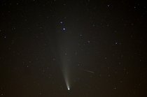 Comet NEOWISE and a meteor