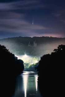 Comet Neowise over Castell Coch - Mathew Browne Photography