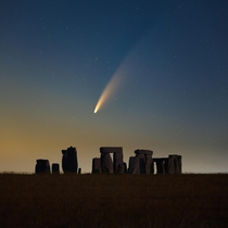 Comet NEOWISE over Stonehenge UK x