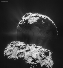 Comet P as seen from spacecraft Rosetta