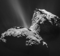 Comet P Churyumov-Gerasimenko made history as the first comet to be orbited and landed upon by robots from Earth