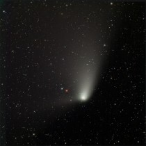 Comet Panstarrs yesterday morning through  scope