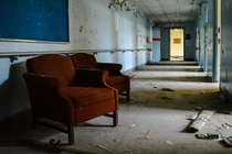 Comfy chairs in an Abandoned Asylum