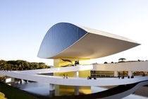 Commonly referred to as the eye and designed by himself this is the Oscar Niemeyer Museum in Curitiba Brazil