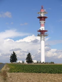 Communications tower near RetolutVidelles Ile-de-France by Pline