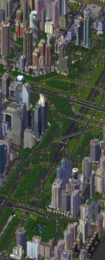 Complex junction I made in SimCity