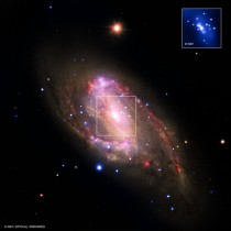 Composite image of spiral galaxy NGC
