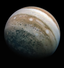 Composite view of Jupiters Southern Hemisphere using imagery from Junos Perijove  on May th
