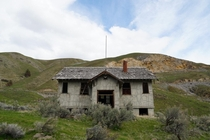 Concrete schoolhouse built for a factory town in Eastern Oregon