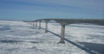 Confederation Bridge PEI Canada in winter