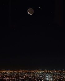 conjunction of the moon with Venus Santiago Chile