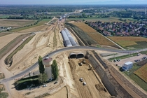 Construction of a tunnel for the new A motorway around Strasbourg France