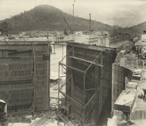 Construction of One of the Loch Gates on the Panama Canal