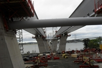 Construction of the new Forth Road Bridge Crossing Scotland