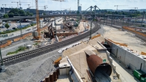 Construction of the new Wendlingen-Ulm high-speed railway Ulm Germany details in comments