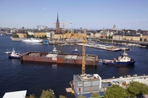 Continuing the tugs and tunnels theme construction of a commuter rail tunnel in central Stockholm