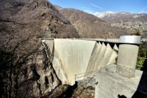 Contra Dam in Ticino Switzerland