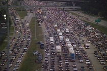 Contraflow lanes in use outside of Houston TX during Hurricane Rita in  The largest evacuation in US history