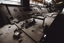 control panels in abandoned factory utr_inf on IG